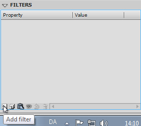 Flash CS4 - Tilføj filter til tekst