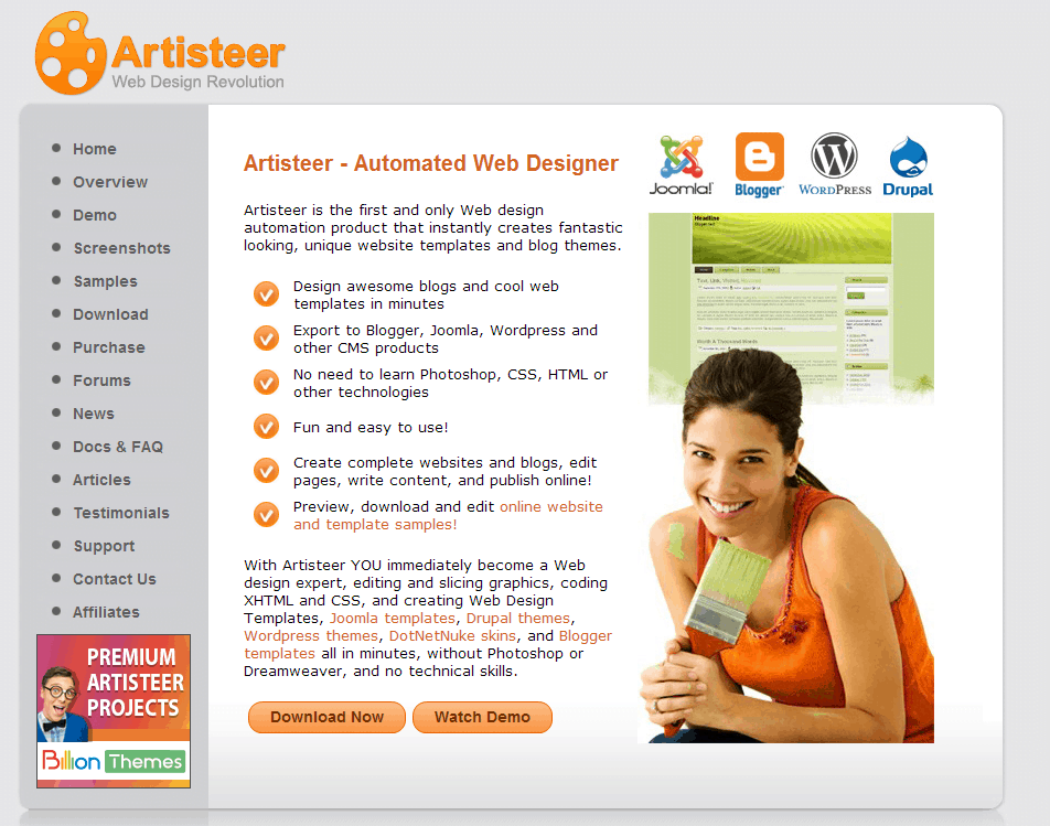 Joomla! templates og WordPress themes med Artisteer er en leg