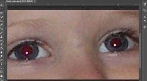 fjern røde øjne gratis