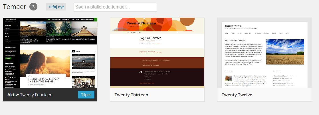 WordPress temaer til din hjemmeside