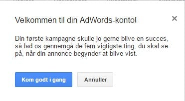 Google AdWords kom godt i gang guiden
