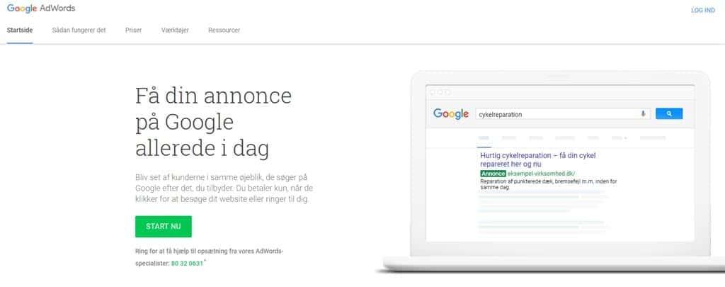 Google Ads - opret konto - oplysninger