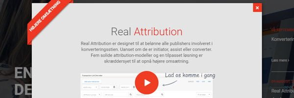 Real Attribution model fra TradeTracker