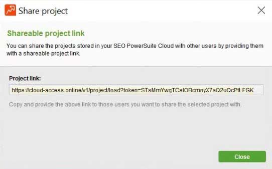 SEO PowerSuite Cloud - Delbart link