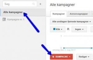 Google AdWords - ny kampagne