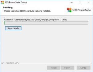 SEO PowerSuite installeres