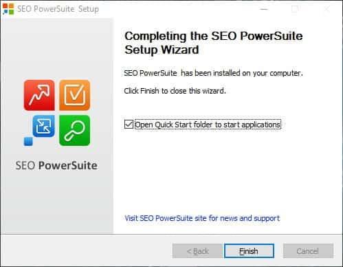 SEO PowerSuite er installeret