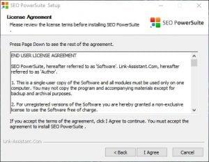 SEO PowerSuite - licensaftale