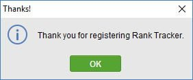 SEO PowerSuite licens registreret, tak!