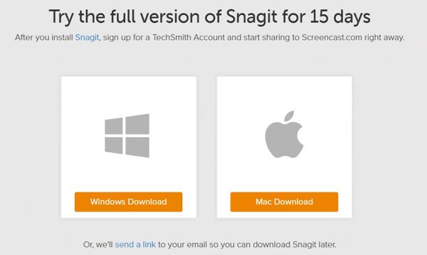 15 dages prøveversion af Snagit - 15 day trial