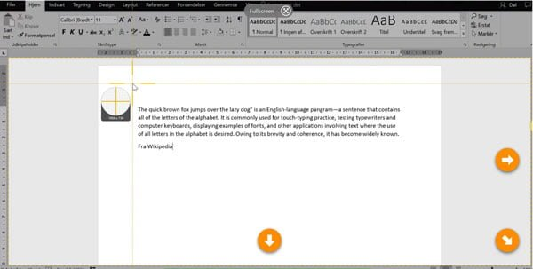 Snagit print screen med Word