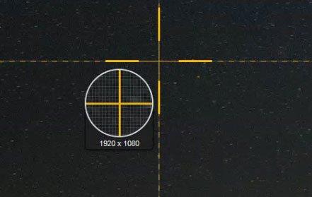 Snagit og Print Screen giver et kryds til markering