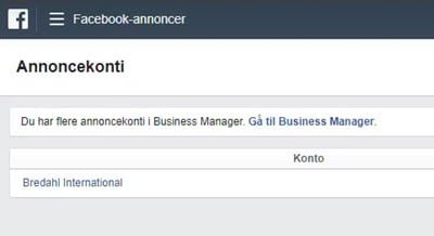 Facebook Business Manager - Privat annoncekonto