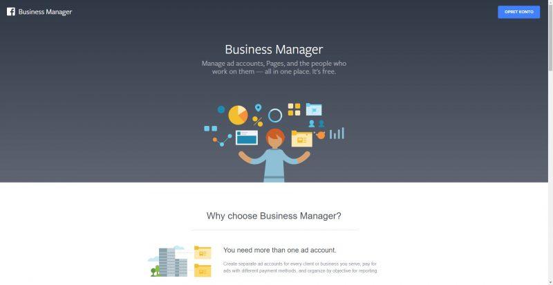 Facebook Business Manager - Opret konto