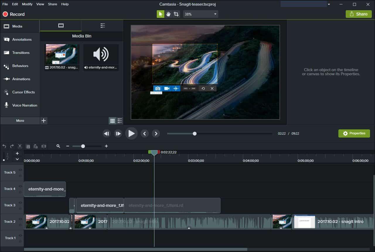 Camtasia til at redigere video