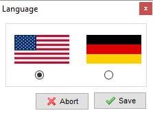 XAMPP kontrolpanel vælg sprog