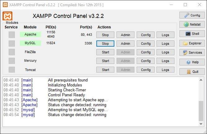 Opsætning af testwebserver XAMPP