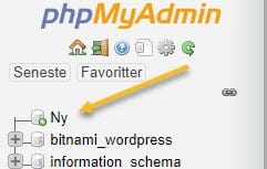 XAMPP ny MySQL database