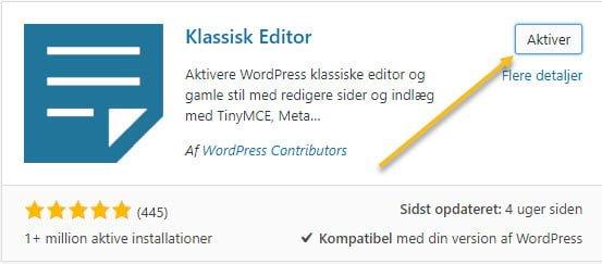 Aktiver Klassisk Editor
