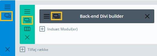 Ikonet klon sektion/række/modul
