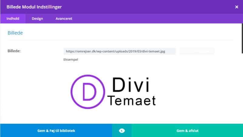Back-end Divi Builder -  Gem & afslut