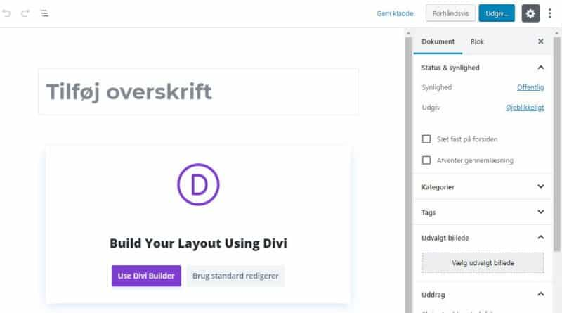 Back-end Divi Builder - Ny-side