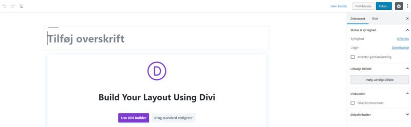 Front-end Divi Builder - Ny side