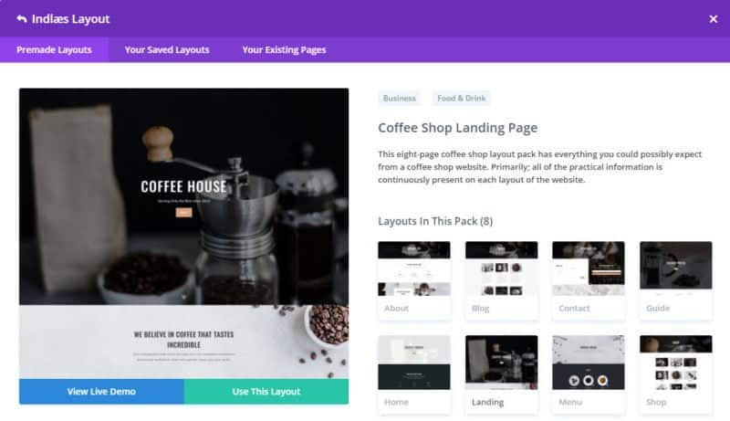 Layout Coffee shop