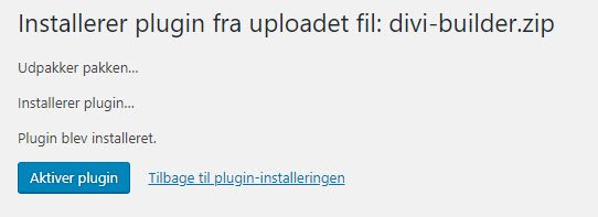 Plugin, Klik på Aktiver plugin