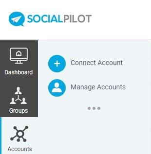 Social Pilot - menuen Accounts