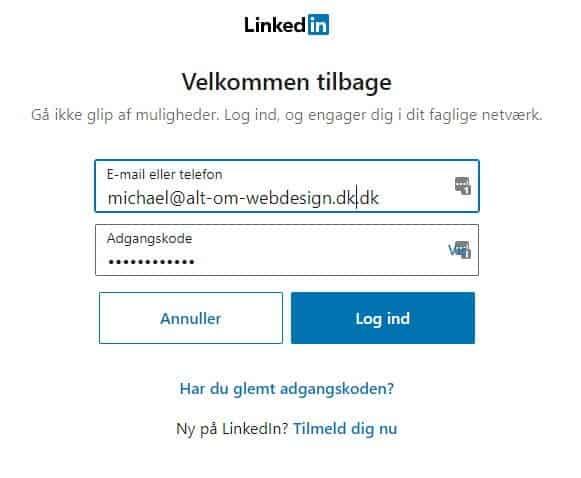 Log ind på LinkedIn eller Tilmeld dig nu