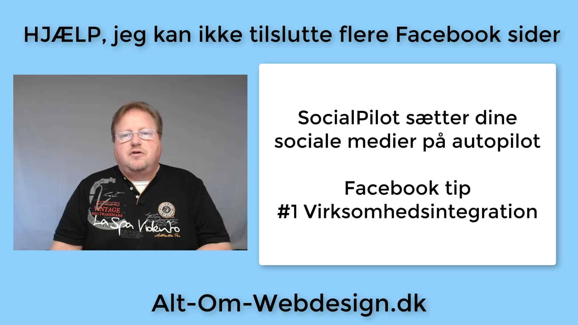 Kan ikke tilføje Facebook sider til Social Pilot