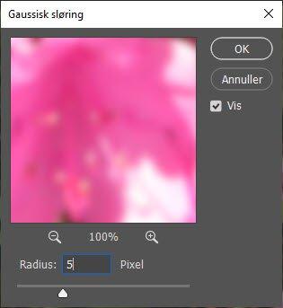 Gaussisk sløring i Adobe Photoshop