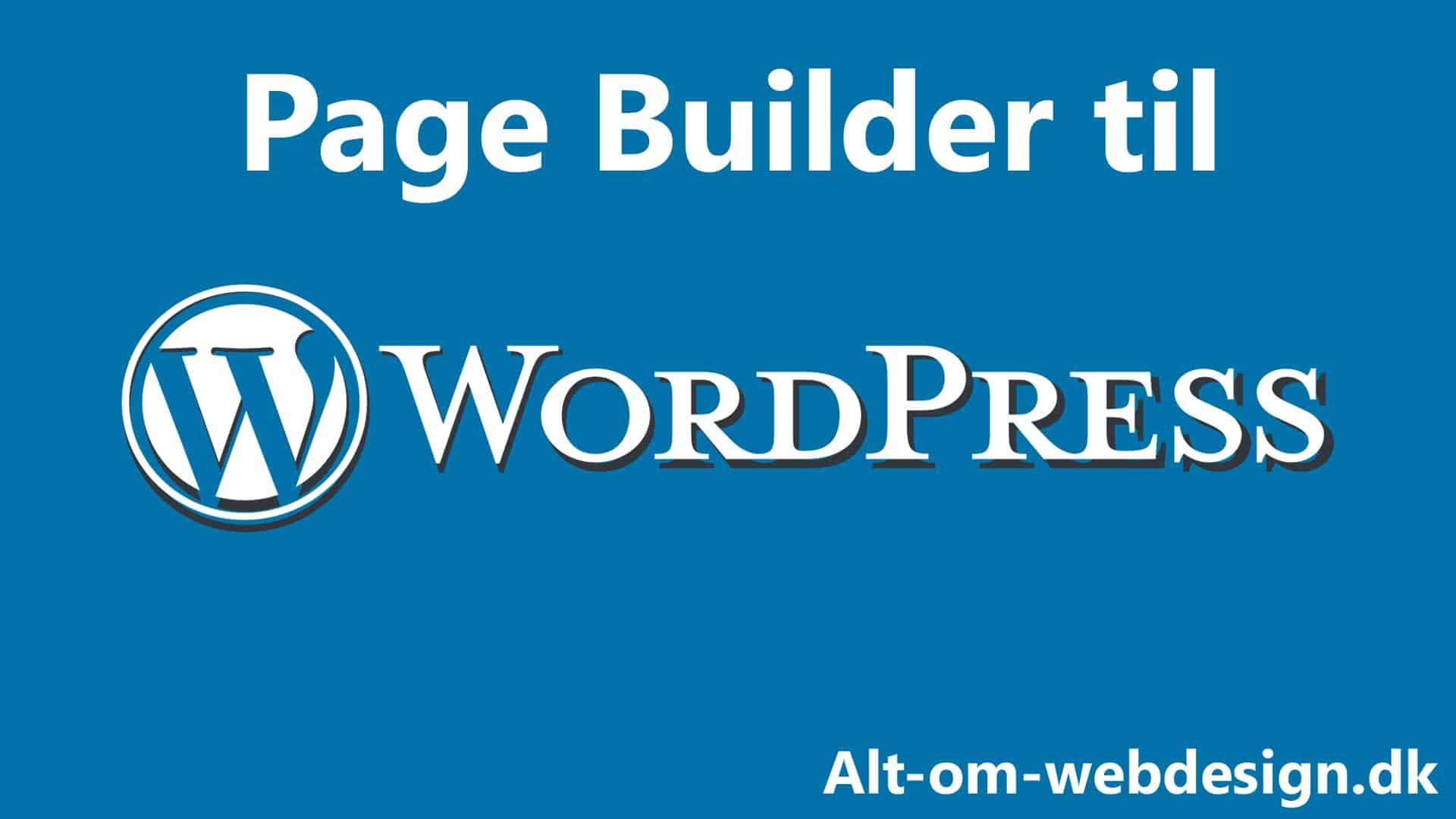Hvad er en Page Builder?