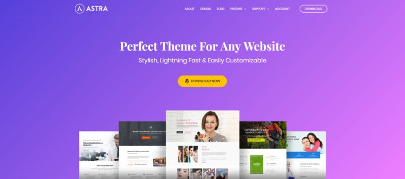ASTRA er verdens hurtigste WordPress tema