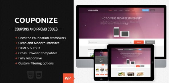 Themeforest WordPress Theme - Couponize